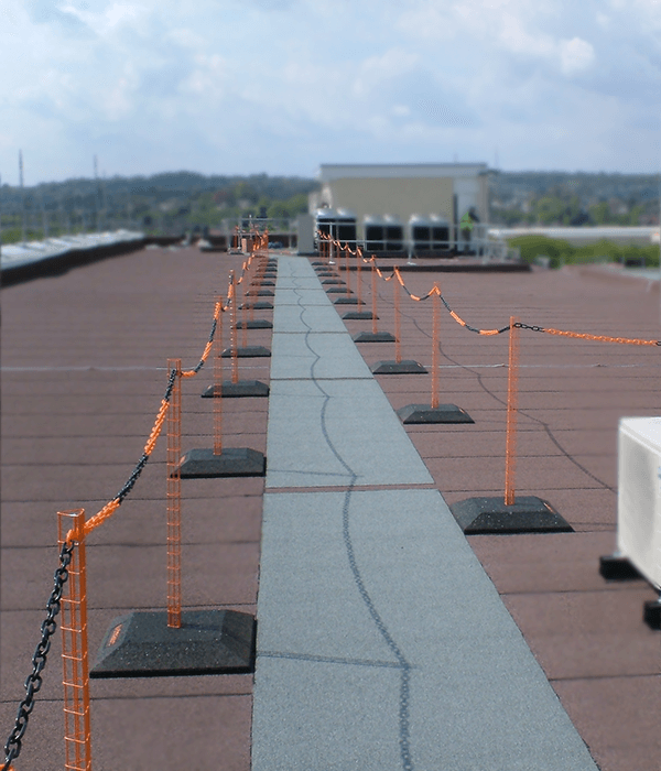 flat roof fall protection barrier