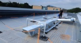 Barrier for flat roof